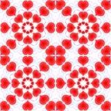 Harten De dag van de valentijnskaart `s Naadloos patroon Royalty-vrije Stock Afbeelding