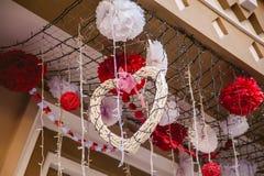 Harten, de liefde van de valentijnskaartendag Stock Foto