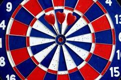 Harten in een bullseye Stock Foto's