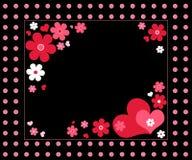 Harten en bloemen Stock Afbeelding
