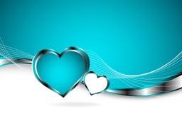 2 harten en de Dag van Valentin ` s vector illustratie
