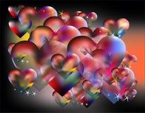 Harten en de dag van Valentine royalty-vrije illustratie