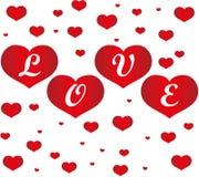 Harten en liefde royalty-vrije illustratie