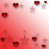 Harten en sterren Royalty-vrije Stock Fotografie