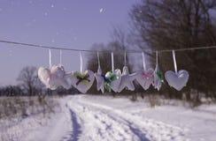 Harten en sterren bij de wind Stock Foto's