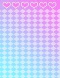 Harten en tegelsachtergrond--gradiëntachtergrond stock illustratie