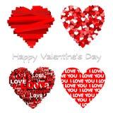Harten. Gelukkige mooie valentijnskaart. Royalty-vrije Stock Afbeelding