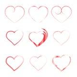 Harten Inzameling voor de viering van de Dag van Valentine, Stock Foto