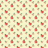 Harten, kers, appelen vector illustratie