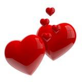 Harten in liefde Stock Foto