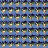 Harten met berkbladeren in het midden stock illustratie
