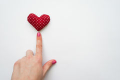 Harten met handen, het hart dat van de vingeraanraking worden gemaakt Royalty-vrije Stock Afbeeldingen