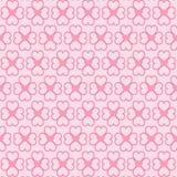 Harten naadloos patroon op roze achtergrond Vector illustratie Stock Afbeeldingen