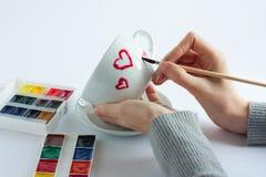 Harten op de Dag van de Valentijnskaart Royalty-vrije Stock Foto's