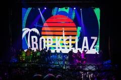 Harten van het Tropkillaz de huidige album op Brand in Moskou Royalty-vrije Stock Afbeelding
