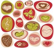 Harten van liefde vector illustratie
