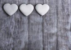 Harten voor de Dag van de Valentijnskaart Stock Afbeelding