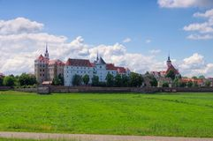 Hartenfels Castle in Torgau, Saxony royalty free stock photography