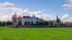 Hartenfels Castle in Torgau, Saxony Stock Images