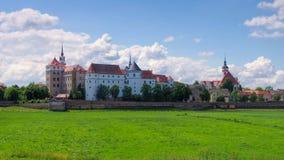 Hartenfels slott i Torgau, Sachsen Arkivbilder