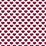 Hartenpatroon op Witte Achtergrond vector illustratie