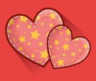 Hartensymbool van hartstocht en Romaans met sterrendecoratie vector illustratie