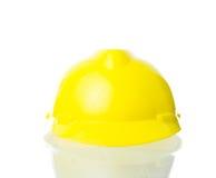 Harter gelber Hut für industrielle Arbeit, Ingenieure, Architekt isolat Lizenzfreies Stockbild