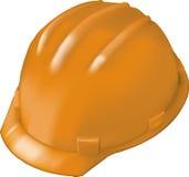 Harter Hut des Aufbaus auf Weiß Stockfotografie