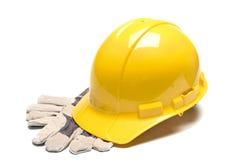 Harter Hut und Handschuhe Stockbilder