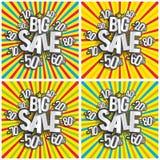 Harter Rabatt-großer Verkauf Stockbild