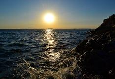 Harter Sonnenuntergang Stockfoto