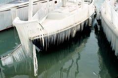Harter Winter der Schweiz Genf im See Leman Lizenzfreie Stockfotografie
