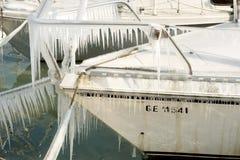 Harter Winter der Schweiz Genf im See Leman Stockfoto