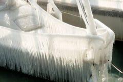 Harter Winter der Schweiz Genf im See Leman Stockbild