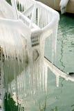 Harter Winter der Schweiz Genf im See Leman Stockfotos