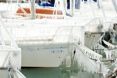 Harter Winter der Schweiz Genf im See Leman Lizenzfreies Stockbild