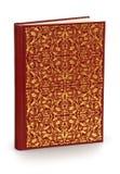 Hartes Abdeckungbuch mit Verzierung - Ausschnittspfad Stockbild