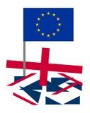 Hartes brexit Großbritannien Lizenzfreie Stockbilder