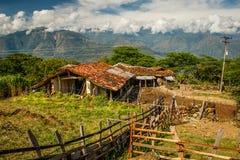 Hartes Leben entlang dem Camino Real, nahe Barichara in Kolumbien lizenzfreies stockbild