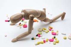 Hartes Leben mit Drogen Stockbild