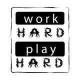 Hartes Spiel der Arbeit hart stock abbildung