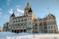 Hartford Capitol Winter Royalty Free Stock Photo