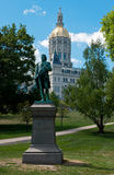 Hartford Connecticut Capitol i Putnam statua Zdjęcie Royalty Free