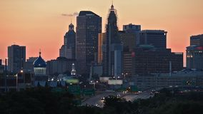Hartford, Connecticut dusk skyline stock video