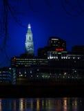 Hartford Connecticut nowego roku fajerwerki obraz royalty free
