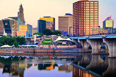 Hartford Connecticut Skyline Stock Photography