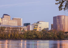 Hartford CT riverfront skyline Royalty Free Stock Photo