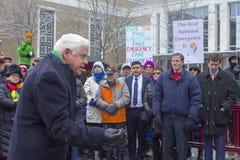 Hartford Day Rally 2019 nicht meines Präsidenten stockbilder