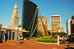 Hartford Founders Bridge Stock Images