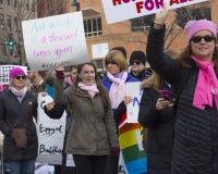 Hartford-Frauen ` s im März 2018 Stockbilder